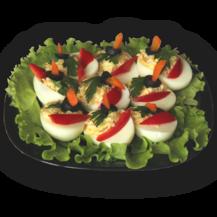 Мусс в яйце сырный