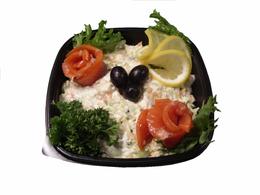 """Радужный"" семга, салат, картофель, яйцо, грибы, майонез, кг"