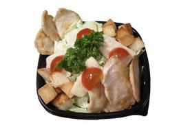 """""""Цезарь"""" с-т айсберг, куриное филе, гренки, пармезан, соус, кг"""